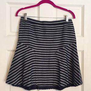 Final⚠️ J. Crew Tweed Flare Striped Skirt